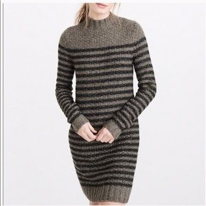 Abercrombie & Fitch Mock Neck Sweater Dress